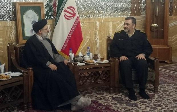 دیدار فرمانده نیروی انتظامی با تولیت آستان قدس رضوی